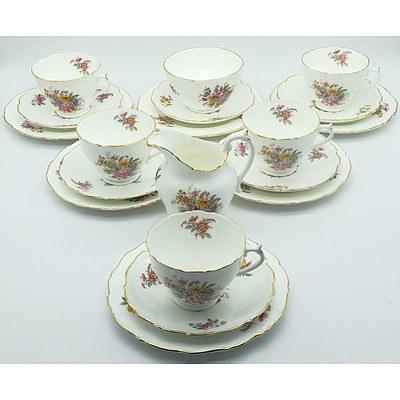 Nineteen Piece Coalport Fragrance Tea Service