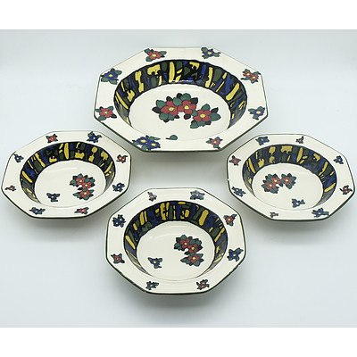 Four Royal Doulton Bowls, Early 20th Century