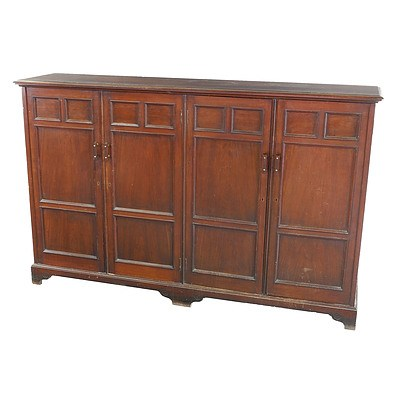 Substantial Edwardian Mahogany Music Cabinet Early 20th Century (Keys in Office)