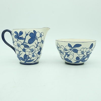 Spode Copeland E Atkinson Creamer Jug and Sugar Bowl