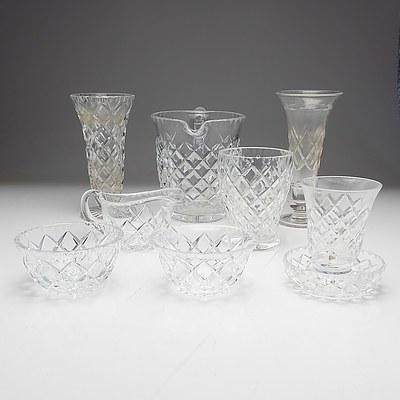 Group of Cut Crystal, Including Stuart Posy Vase
