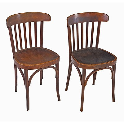Four Antique European Bentwood Chairs, Early 20th Century