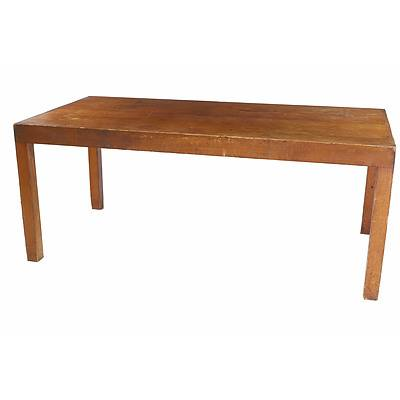 Vintage Coachwood and Pine Work or Dining Table