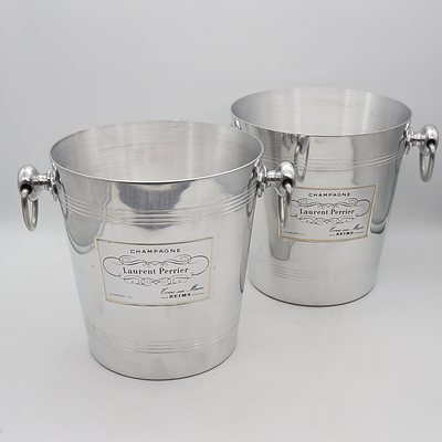 Two Laurent Perrier Champagne Buckets