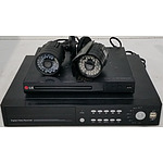 LG DVD Player, Digital Video Recorder and Two Swann Security Cameras