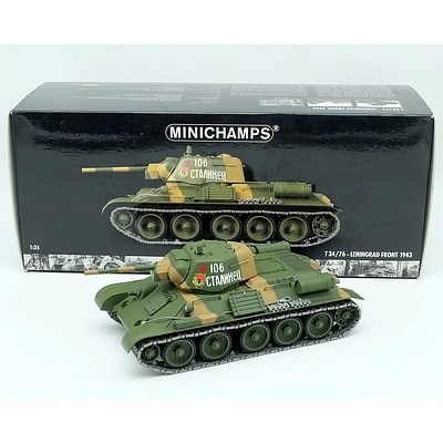 Minichamps 1943 Leningrad T34/76 1:35 Scale Model Tank