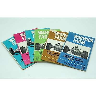 Six Warwick Farm 1960s Programme Booklets