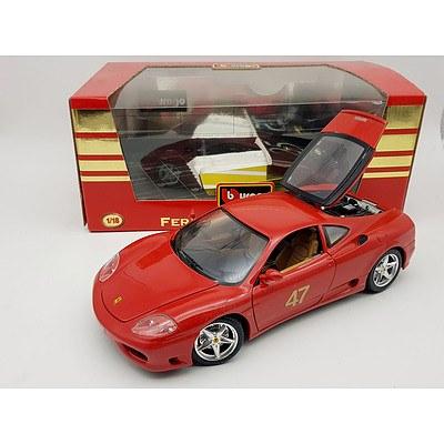 Bburago 1999 Ferrari 360 Modena 1:18 Scale Model Car