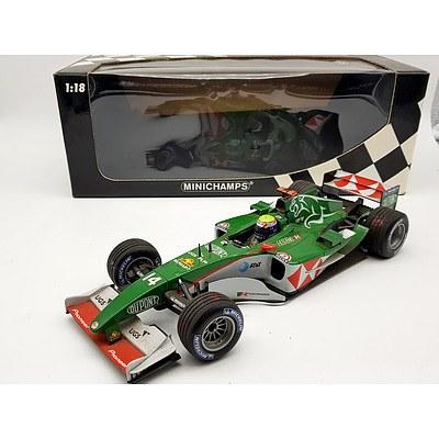 Minichamps 2004 Jaguar Racing R5 Mark Webber 1:18 Scale Model Car