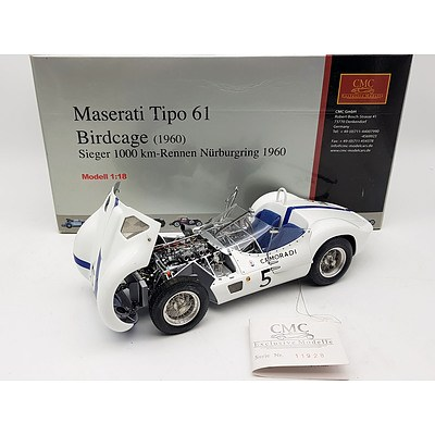 CMC Maserati Tipo 61 Birdcage 1:18 Scale Model Car
