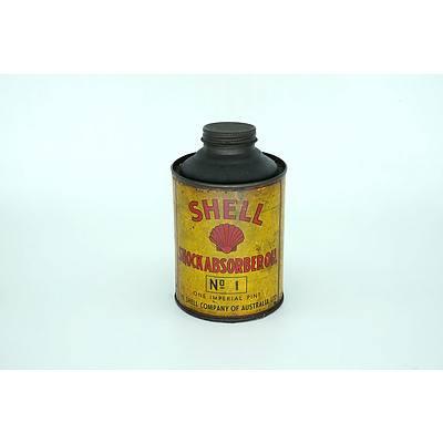 Shell Shock Absorber No1 Oil Tin Circa 1939
