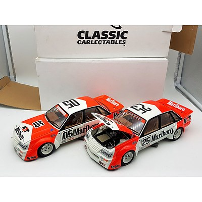 Classic Carlectables 1-2 Finish 1984 VK Commodore's Brock & Harvey 1:18 Scale Model Car's - Lot of 2