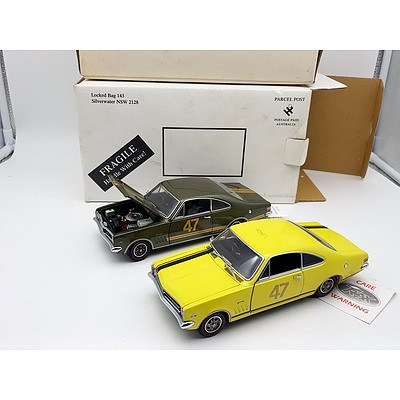 TRAX TX-034 HT Holden GTS350 Monaro's 1:24 Scale Model Cars - Lot of 2