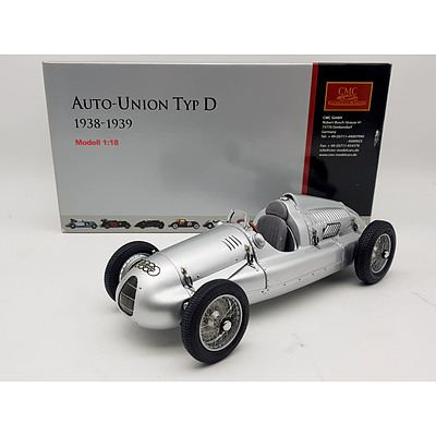 CMC Auto Union 1938 Typ D 1:18 Scale Model Car
