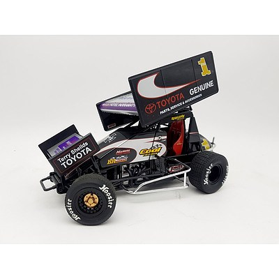 R&R Brooke Tatnell Toyota Genuine Parts Sprint Car 1:18 Scale Model Car