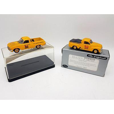 """TRAX """"The Originals"""" Golden Fleece Holden Utes 1:43 Scale - Lot of 2"""