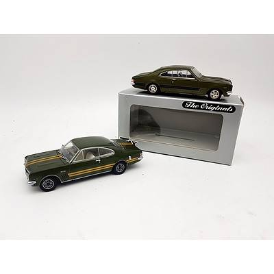 "TRAX ""The Originals"" & AUTOart Holden Monaro's 1:43 Scale - Lot of 2"