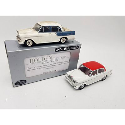 "TRAX ""The Originals"" Holden FC Special Sedans 1:43 Scale - Lot of 2"
