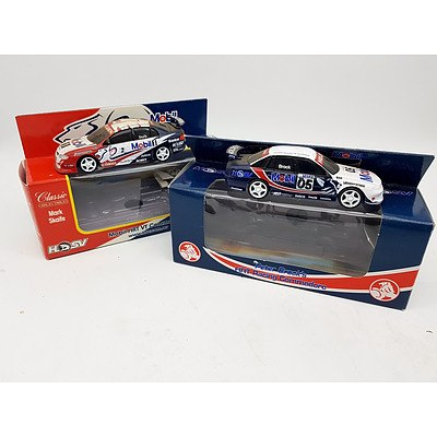 Classic Carlectables Holden Racing Commodores Peter Brock & Mark Skaife 1:43 Scale - Lot of 2