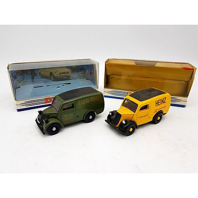 Matchbox DINKY 1950 Ford E83W 10 CWT Van's 1:43 Scale Model Car - Lot of 2