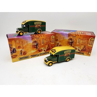 "Matchbox ""Models of Yesteryear"" 1931 Morris Van's - Lot of 2"