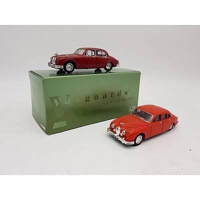 Vanguards & Corgi Jaguar Mark II 1:43 Scale Model Cars - Lot of 2