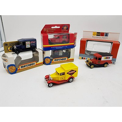 Matchbox & Others Ford Model A's & Ford Model T's - Lot of 5