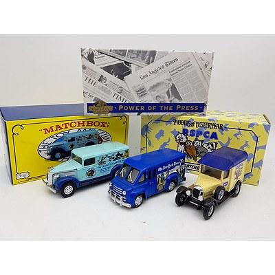 Matchbox 1937 GMC Van, Dodge Route Van, & Morris Light Van  - Lot of 3