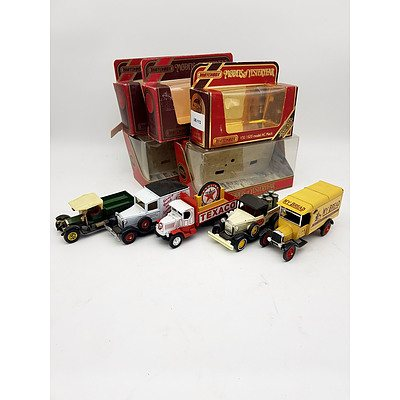 "Matchbox ""Models of Yesteryear"" Ford, Mack & Crossley Model Vehicles - Lot of 5"