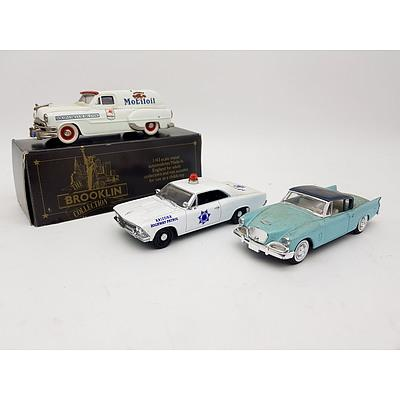 Solido, Matchbox and Brooklyn American Model Cars 1:43 Scale- Assorted Lot of 3