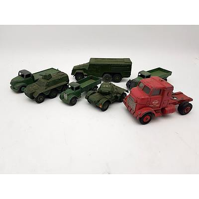 Dinky Supertoys (By Meccano) Vintage Military and Civilian Truck Model Vehicles  - Lot of 7