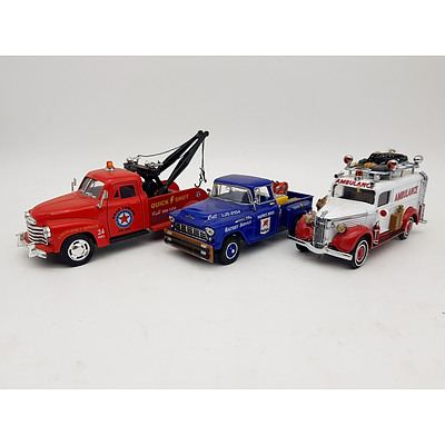 Matchbox & Kinsmart American Service Vehicles - Lot of 3