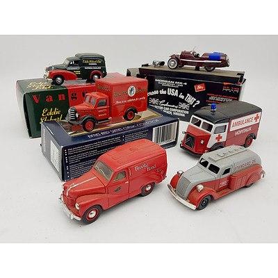 Matchbox, Brumm, & Vanguards Various Model Vehicles - Assorted Lot of 6