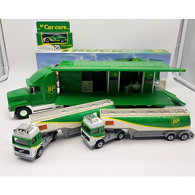 BP Collectable Transforming Truck, Two Model Tankers & Nascar