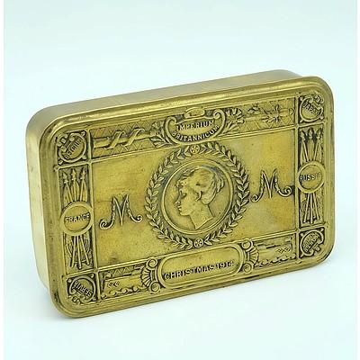 Antique Imperiun Britannicum Brass Tin, Christmas 1914