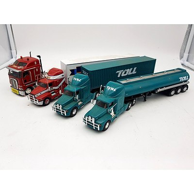 TRUX & Other Kenworth Prime Mover Trucks - Lot of 4