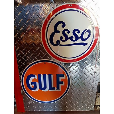 ESSO & GULF Reproduction Signs