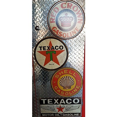 Red Crown Gasoline, Texaco, & Shell Reproduction Signs