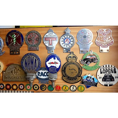 Large Group of Automotive Badges