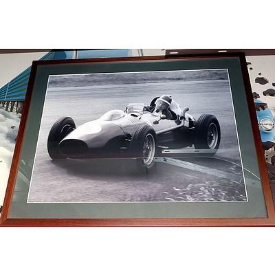 Stained Hardwood Framed Original Formula One Car Print