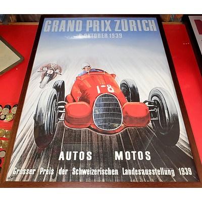 Grand Prix Zurich and Monaco Reproduction Posters