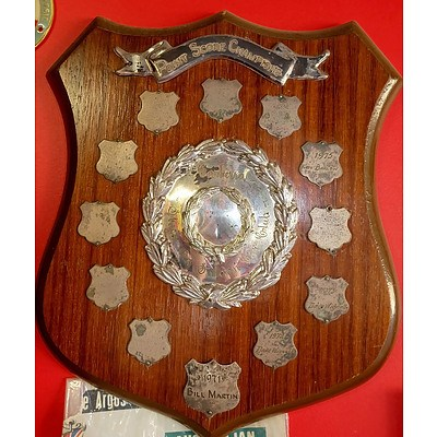 Canberra Stock and Saloon Car Club Point Score Championships Wall Plaque