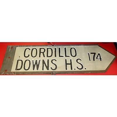 Vintage Cordilo Downs Sign