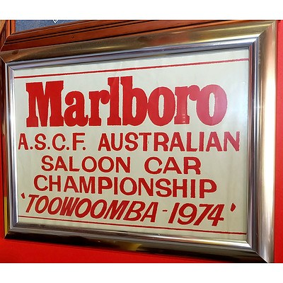 Marlboro A.S.C.F Australian Saloon Car Championship Toowoomba 1974 Poster