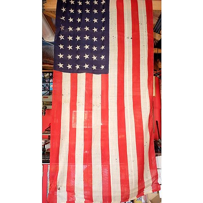 Antique American Flag with 48 Stars