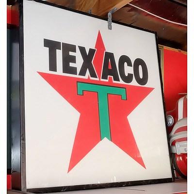 Texaco Light Box Advertising Sign