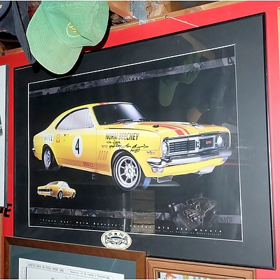 Holden Monaro GTS350 Poster Signed by Norm Beechey