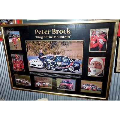 Large Peter Brock King of The Mountain Presentation