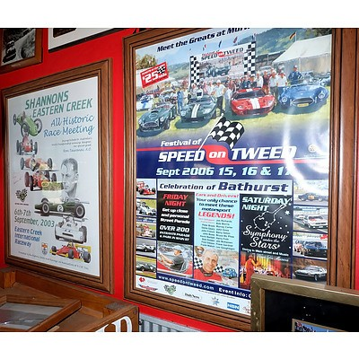Peter Brock Commemorative Poster, Shannons Eastern Creek 2003 Poster and Speed on the Tweed 2006 Poster