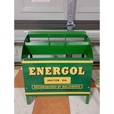 Energol Motor Oil Bottle Rack